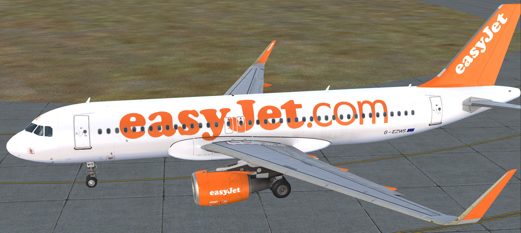 easyJet A320-214 Sharklets G-EZWS - Airbus A320/A321 liveries