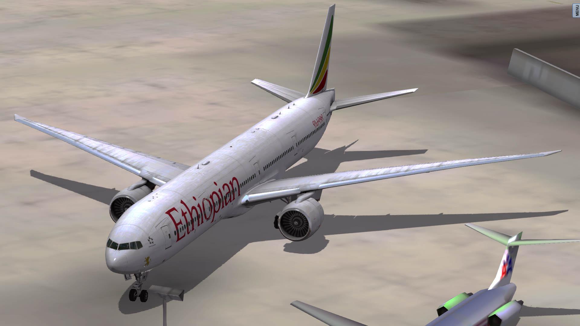 Ethiopian - Boeing 777-300 ER - Flight Factor - AEROSOFT
