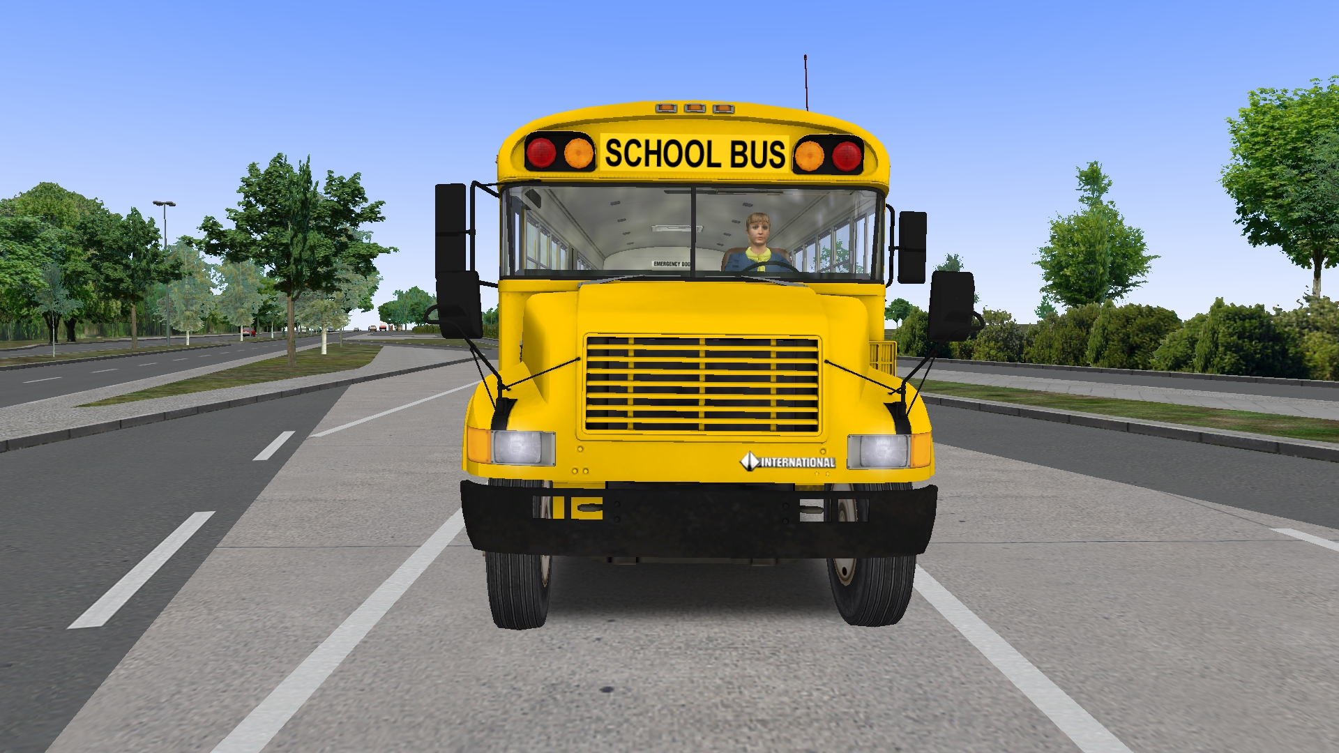 OMSI International Blue Bird School Bus Miami, Florida, Dade County