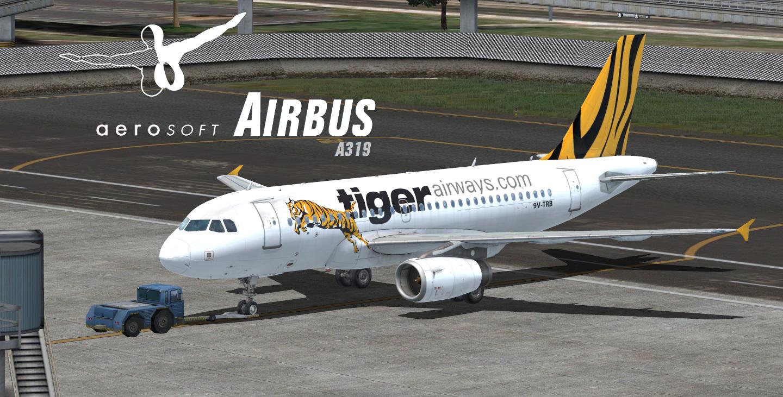 Aerosoft A319 IAE Tiger airways - Airbus A318/A319 liveries
