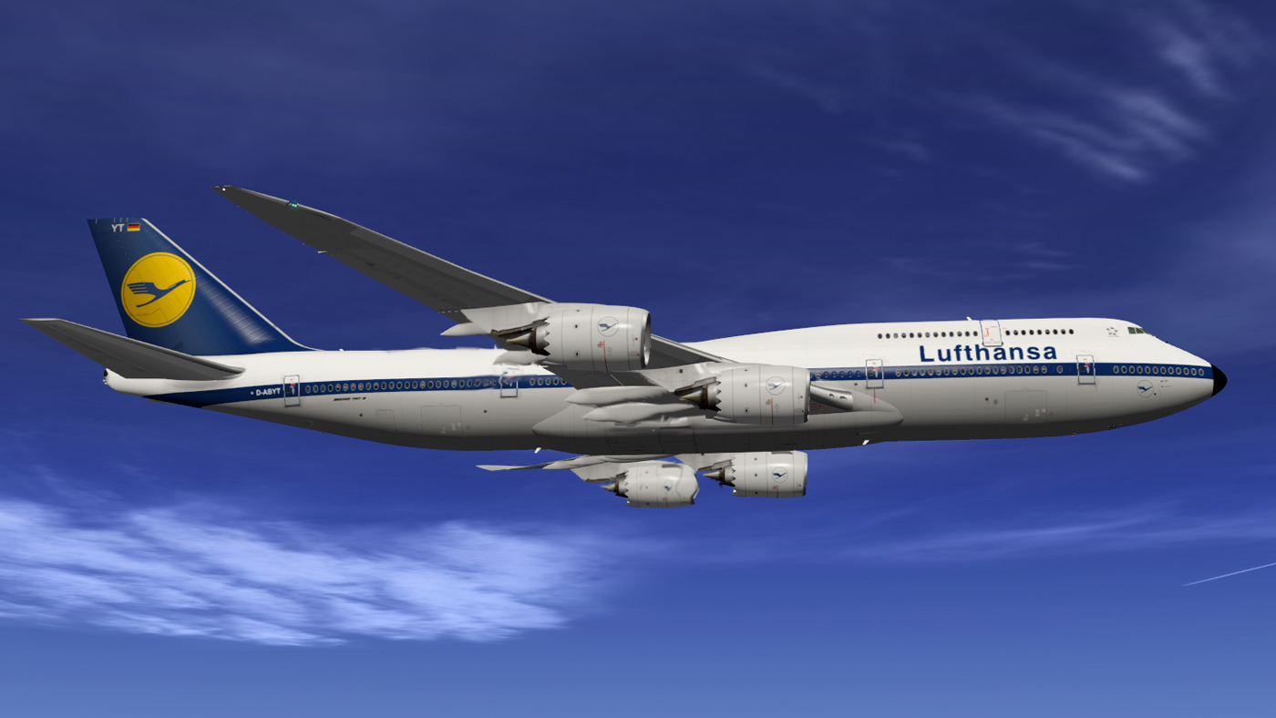 SSG 747-8 Intercontinental Lufthansa D-ABYT Retro - SSG
