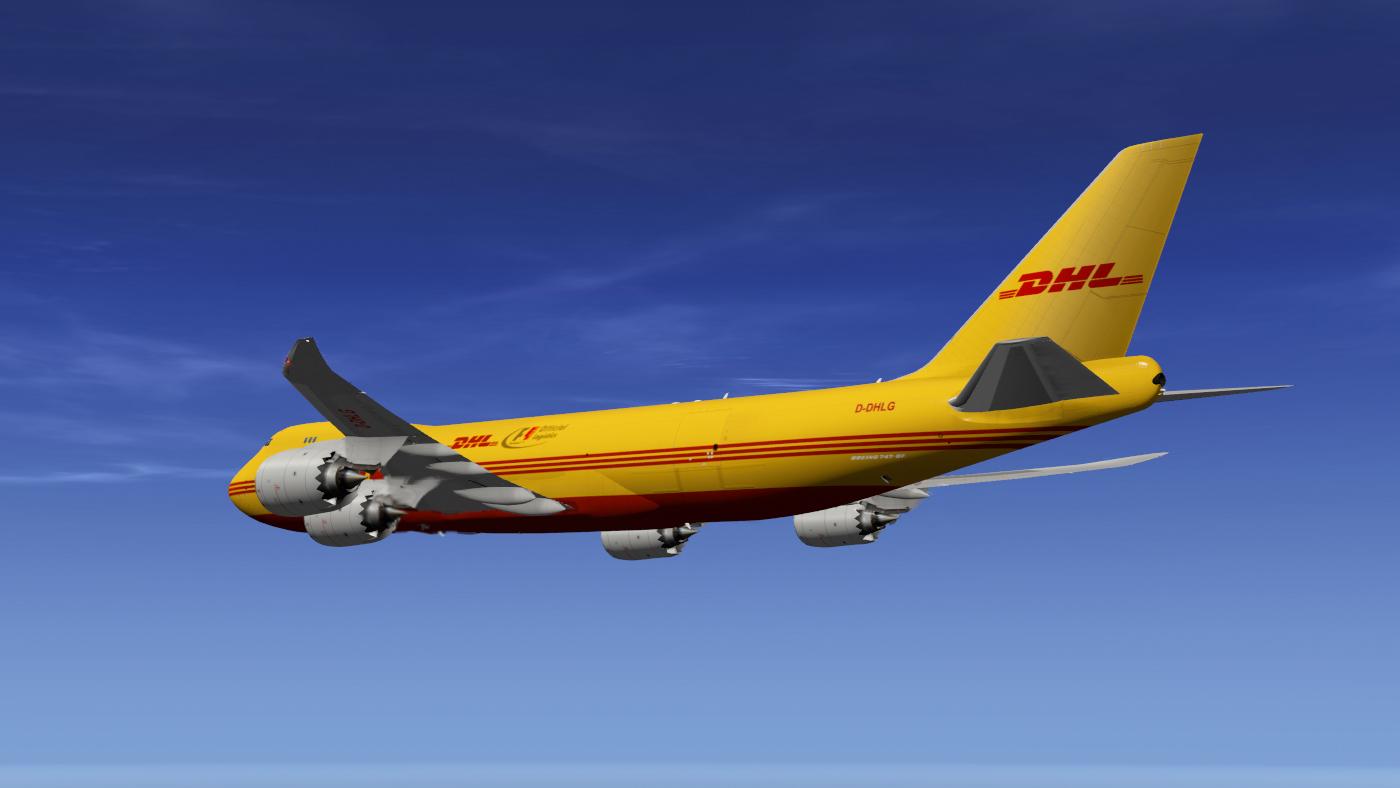 SSG 747-8 DHL F1 Freighter - SSG - AEROSOFT COMMUNITY SERVICES