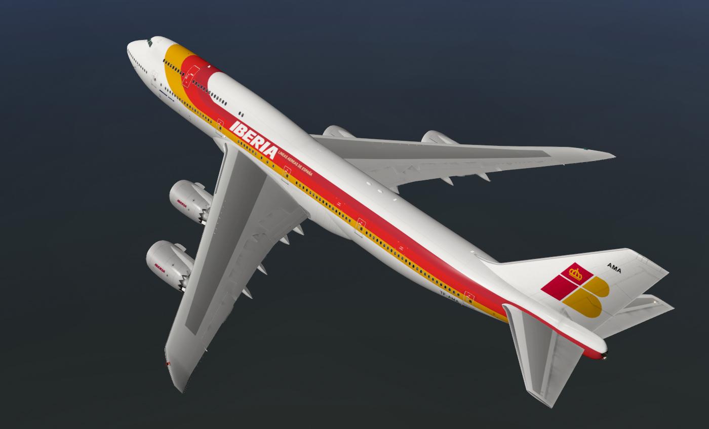 Iberia SSG 747-8 - SSG - AEROSOFT COMMUNITY SERVICES