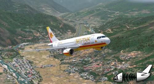 "Screenshot for Aerosoft A319 Bhutan Airlines ""Dorji"""