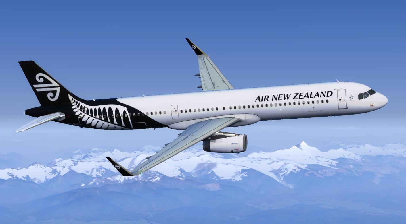 Air New Zealand Airbus A321 ZK-NNC Repaint   Aerosoft A321 IAE