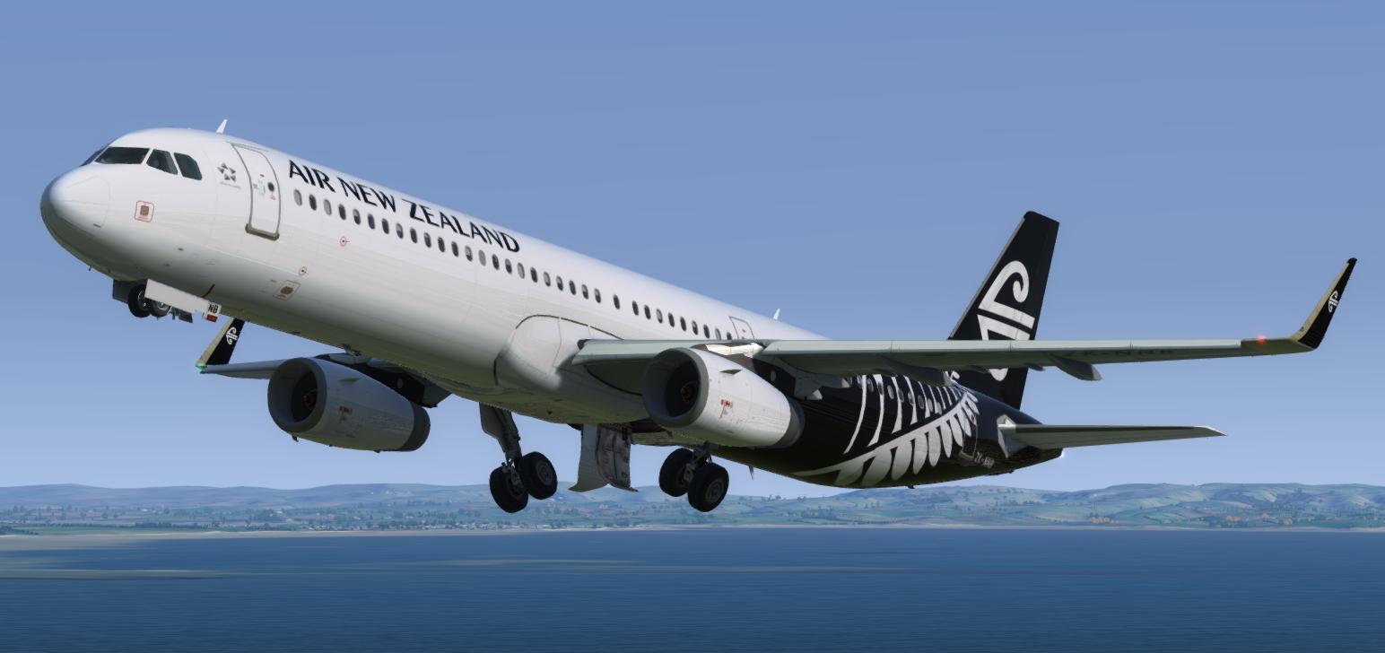 Air New Zealand Airbus A321 ZK-NNB Repaint | Aerosoft A321 IAE