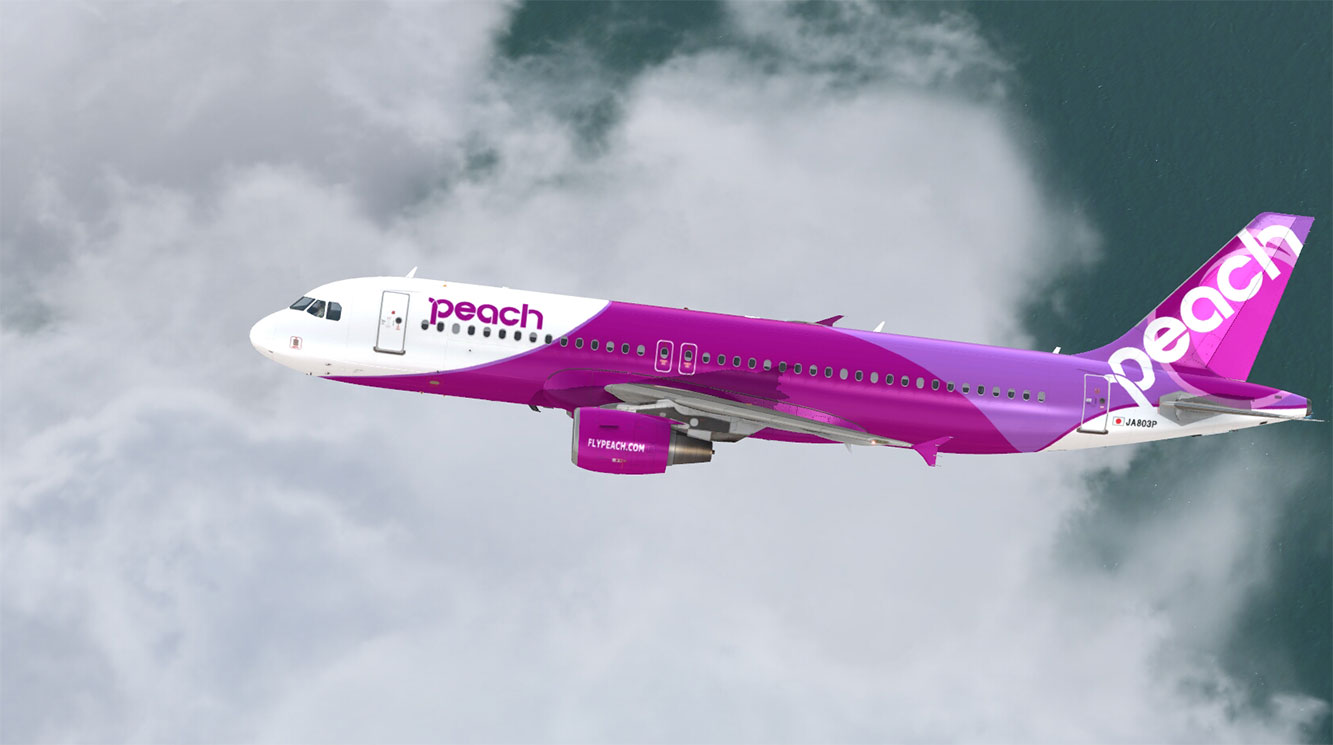 Airbus A320 Cfm Peach Aviation Ja803p V1 0 Aerosoft