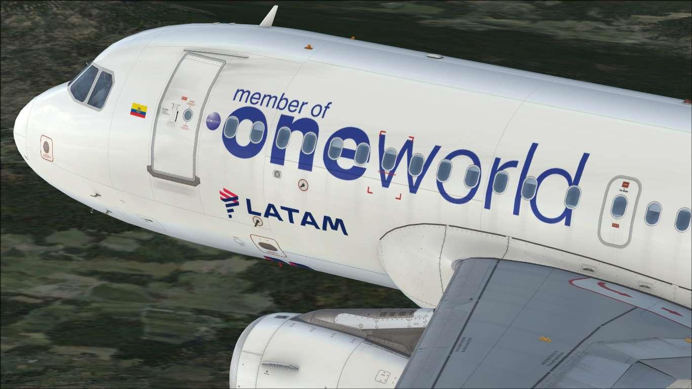 """LATAM Airlines Ecuador """"oneworld"""" HC-CPJ Airbus A319 IAE"""