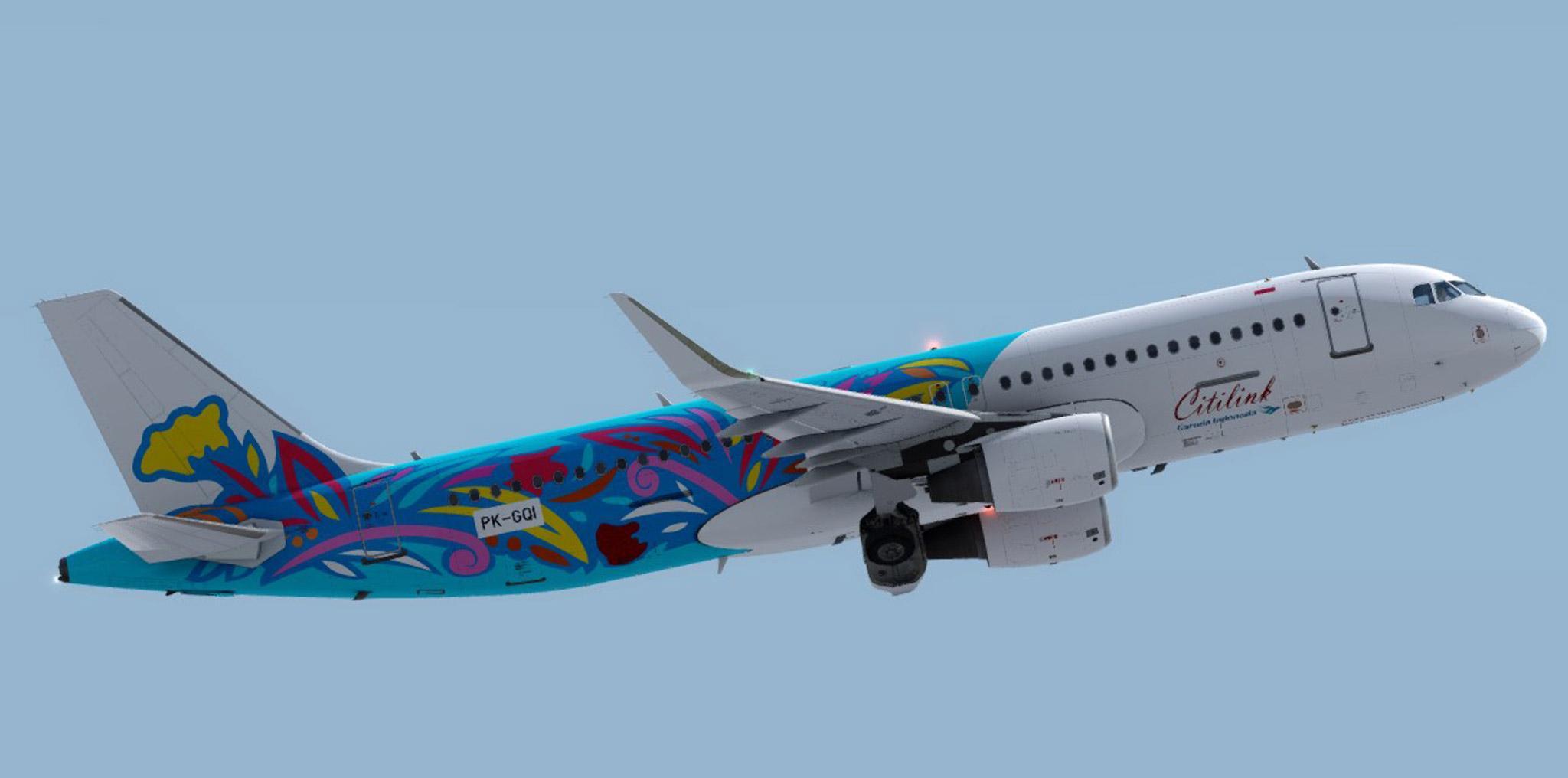 Aerosoft A320 Citilink PK-GQI