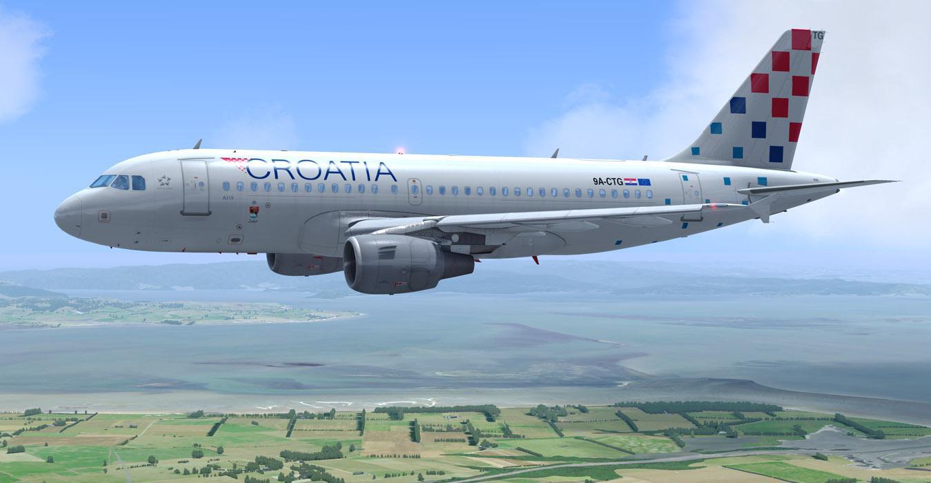Croatia Airlines 9A-CTG Repaint A319 Prof.