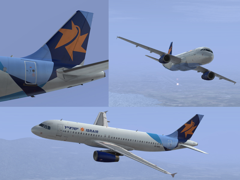 Airbus A320 Israir 4X-ABG - Airbus X liveries (outdated product