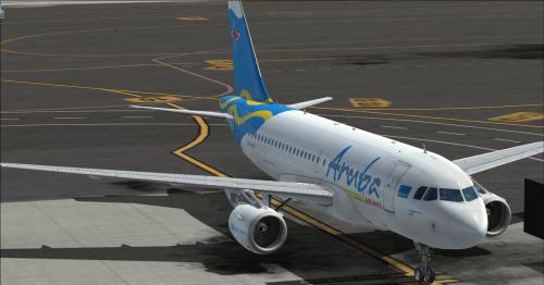 "Screenshot for Airbus A319 CFM Aruba Airlines P4-AAE ""Dito"""
