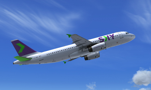 Screenshot for SKY Airline Airbus A320 CC-ABV new livery