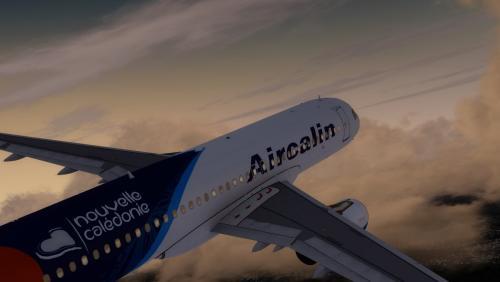 Screenshot for Airbus A320 IAE Aircalin F-OZNC ~ New Livery