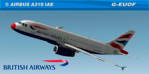 Screenshot for British Airways A319 IAE G-EUOF RED NOSE