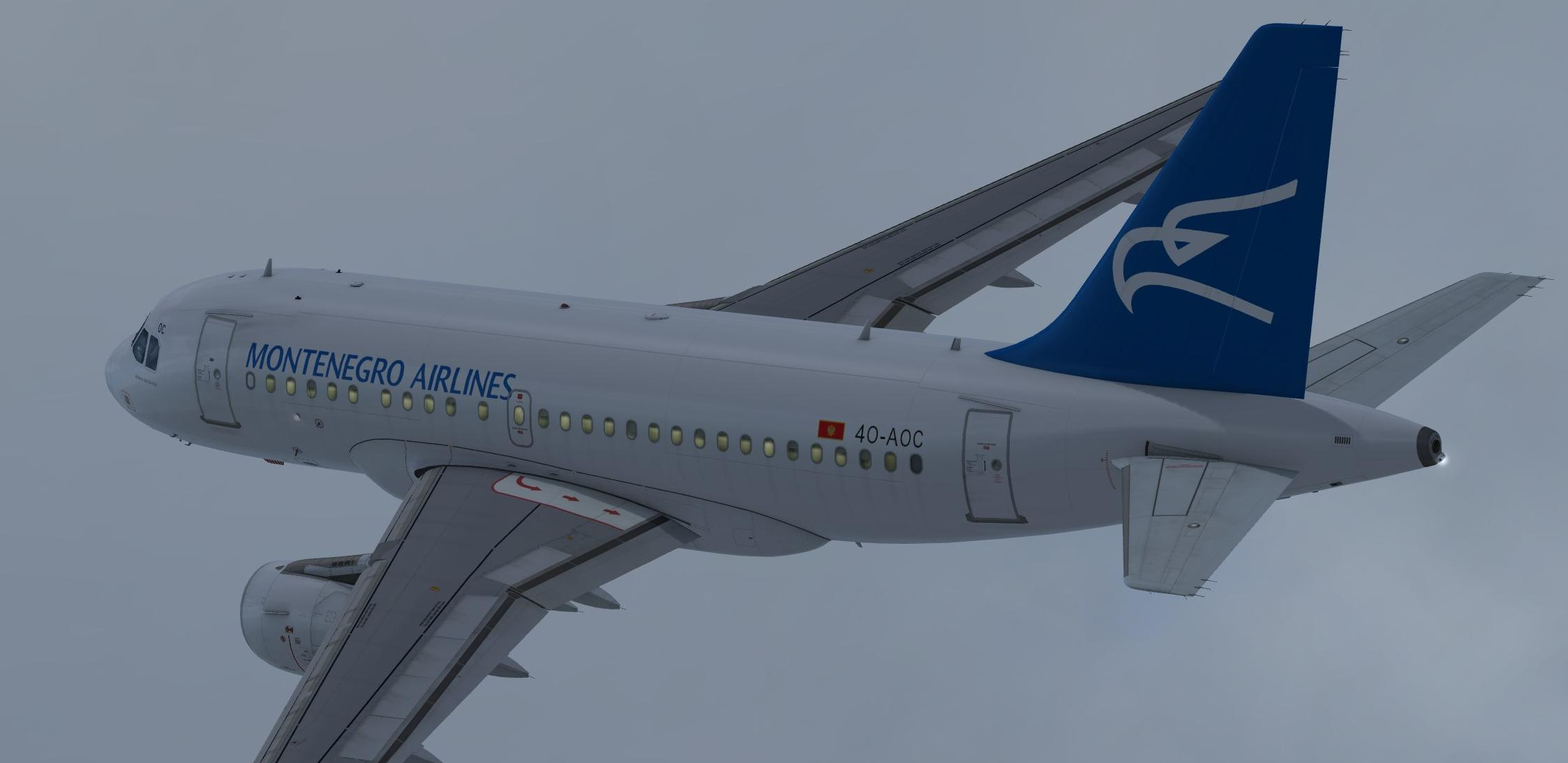 Montenegro Airlines (fictional) Airbus A318-111 CFM