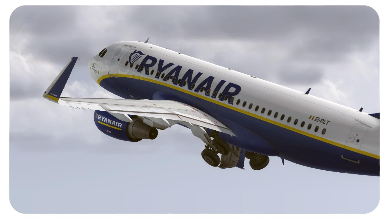 A319 Ryanair (fictional) - Airbus A318/A319 liveries - AEROSOFT