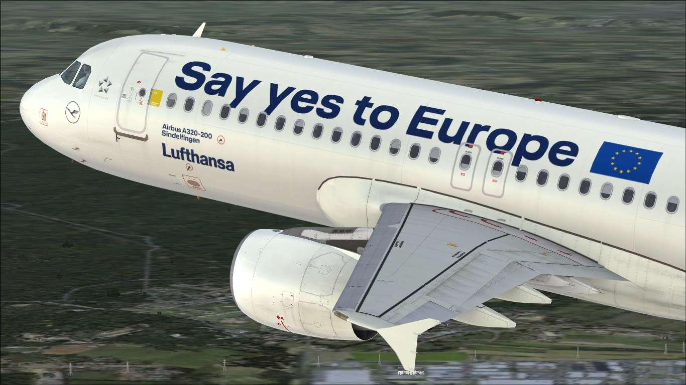 """Lufthansa """"Say yes to Europe"""" D-AIZG Airbus A320 CFM"""