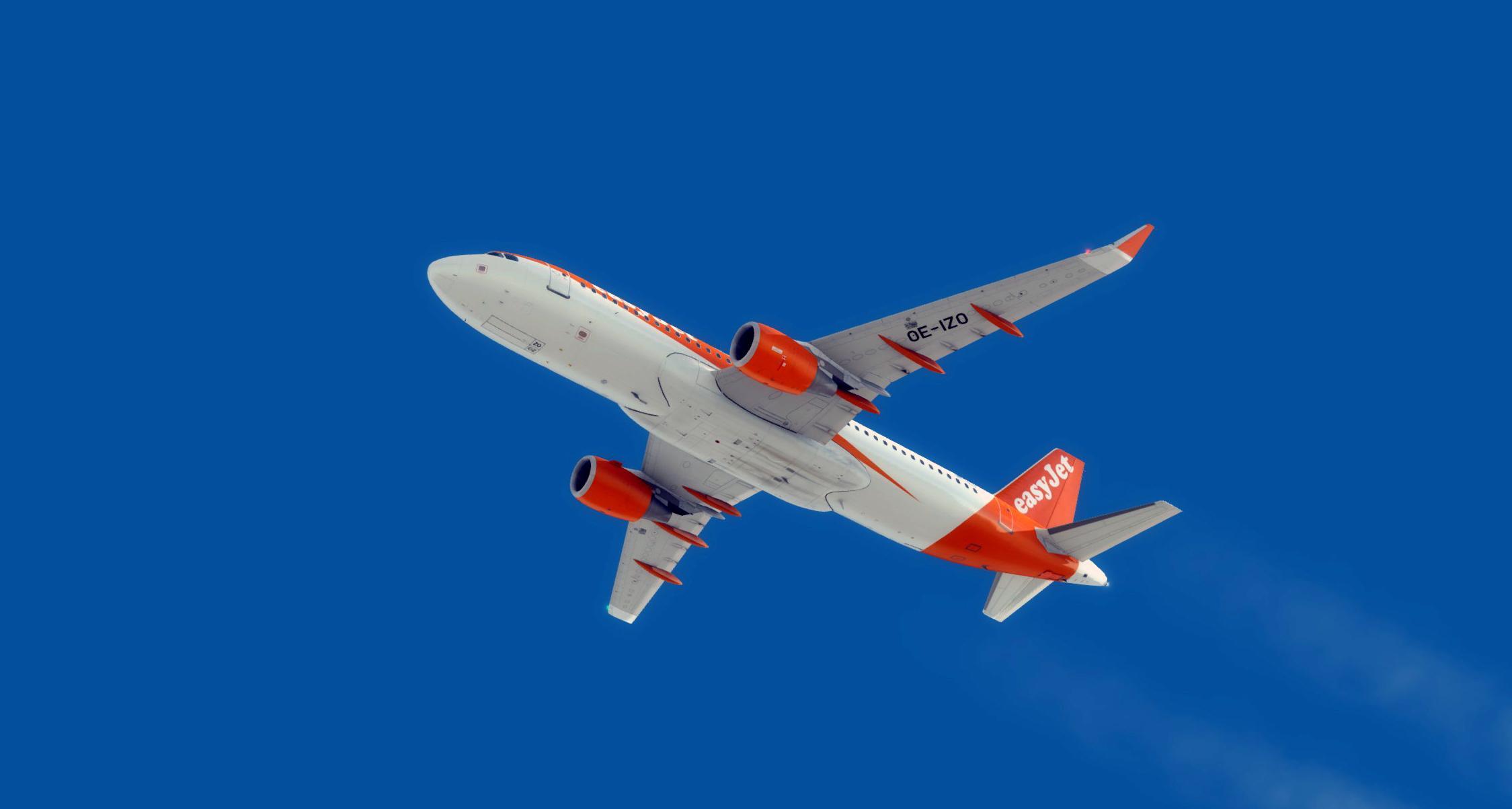 easyJet Europe A320 OE-IZO (SATCOM)