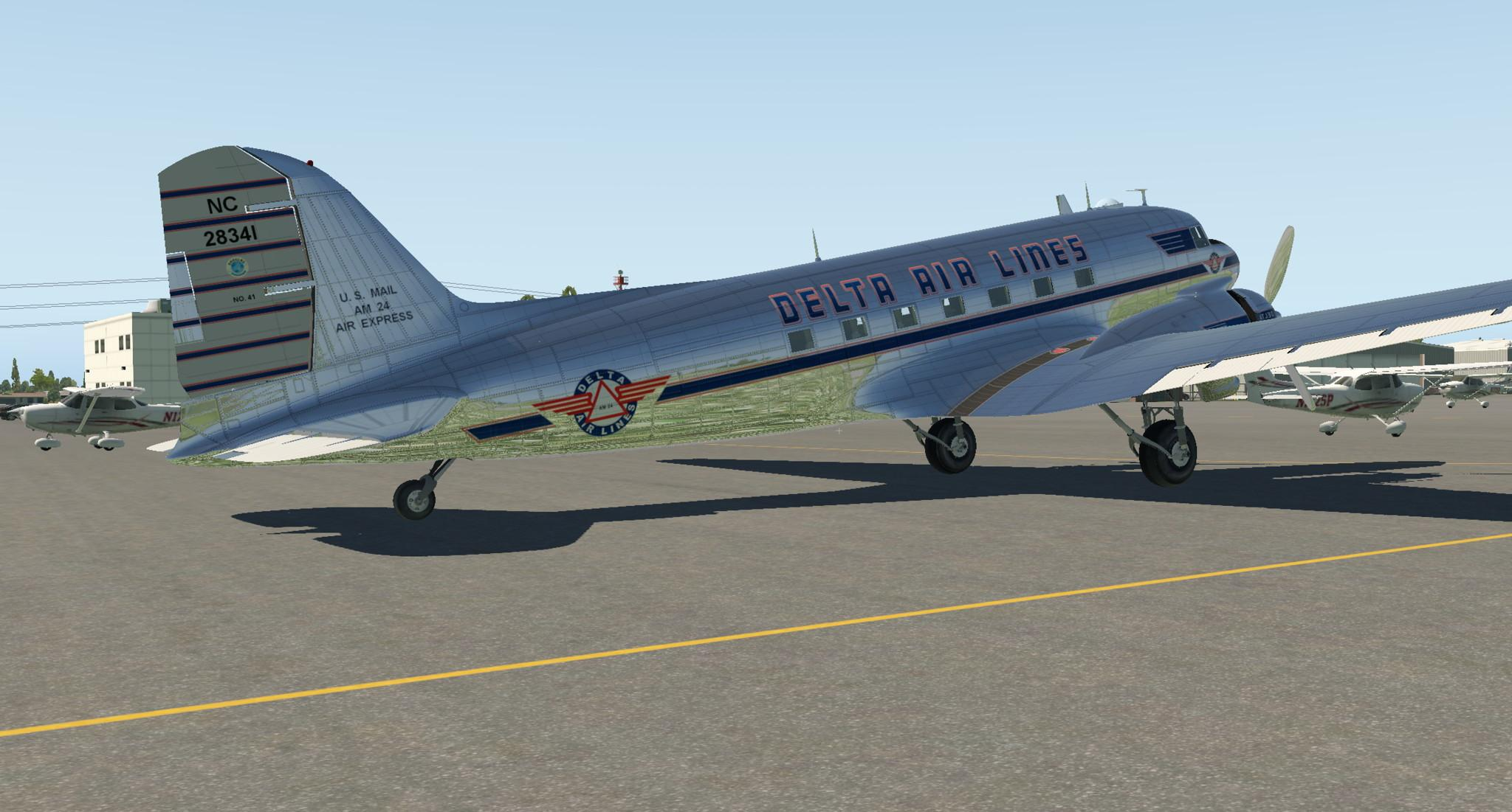 Delta (Early) for LES DC-3 in XP11 - Others - AEROSOFT COMMUNITY
