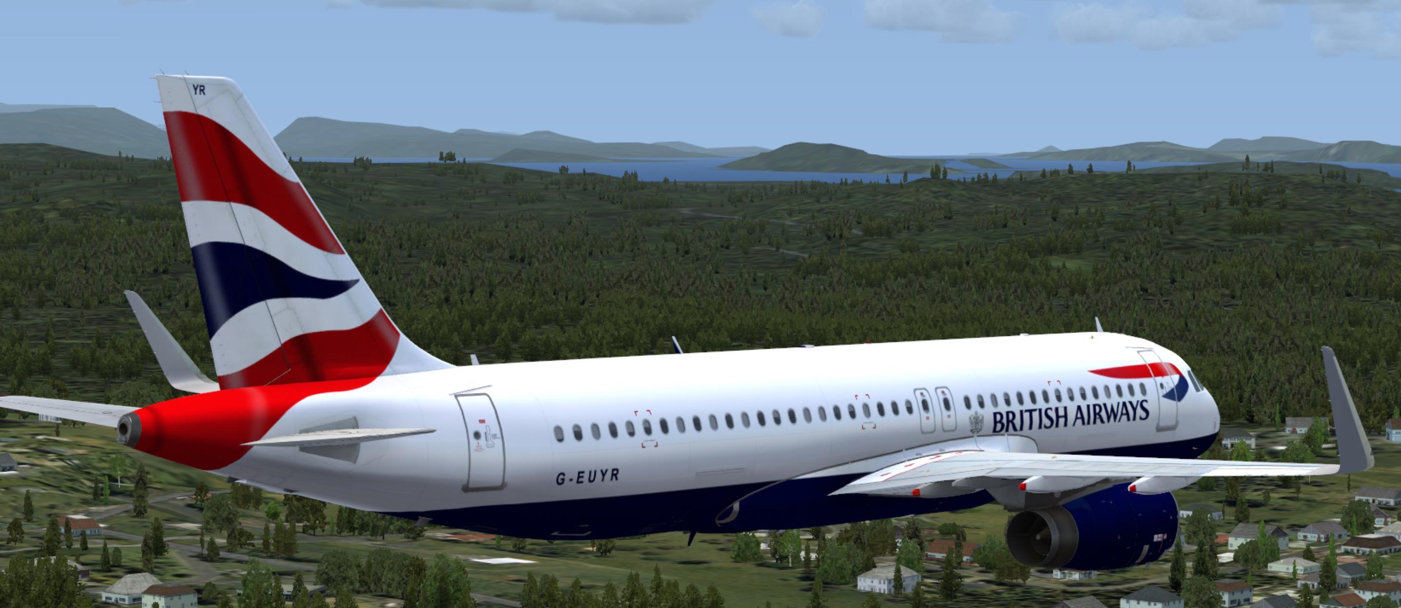 Airbus A320-232 British Airways G-EUYR - Aerosoft A320/A321