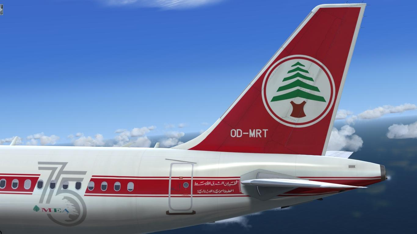 """Middle East Airlines """"75 Years"""" OD-MRT Airbus A320 IAE"""