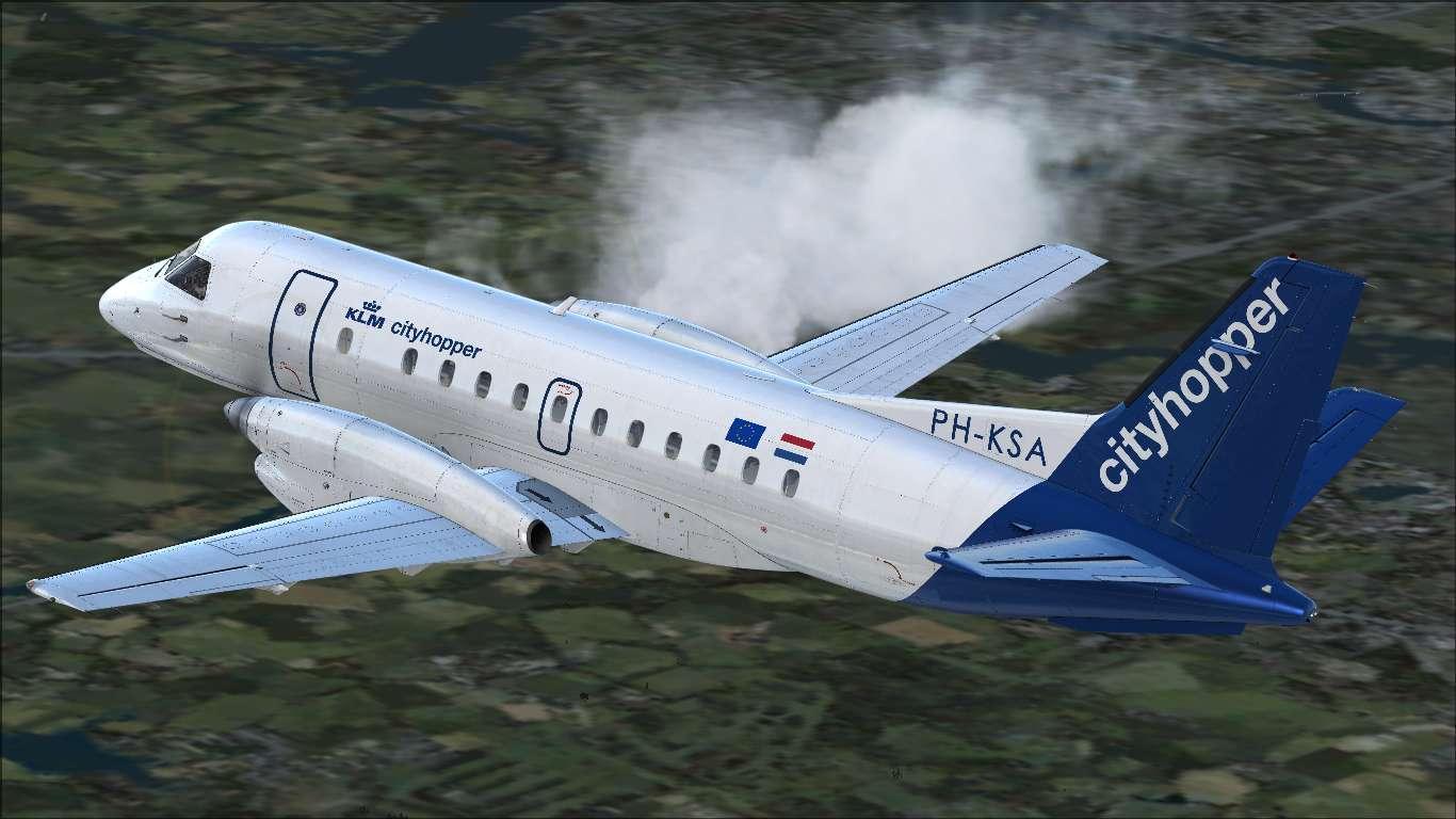 KLM Cityhopper Saab 340B PH-KSA - Carenado Repaints