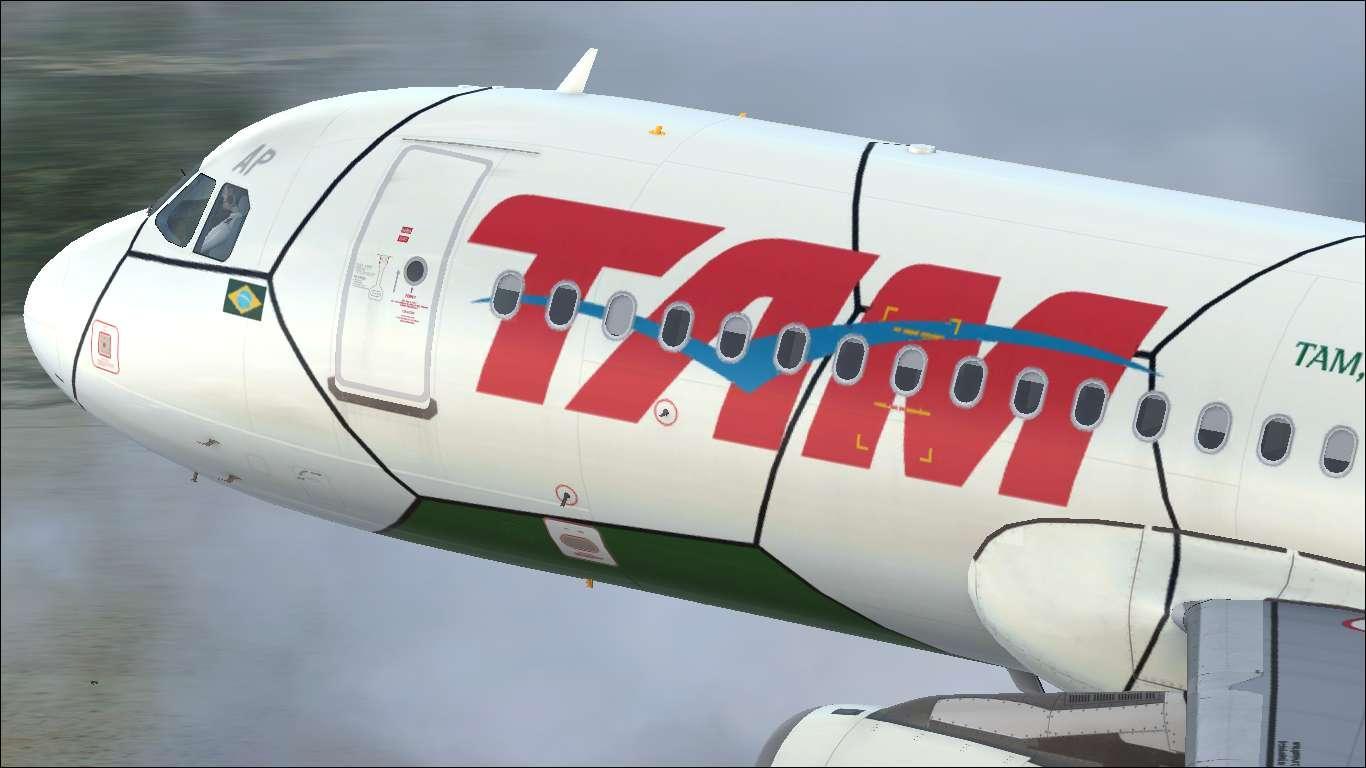 "TAM ""Brazilian Football Confederation"" PR-MAP Airbus A320 IAE"