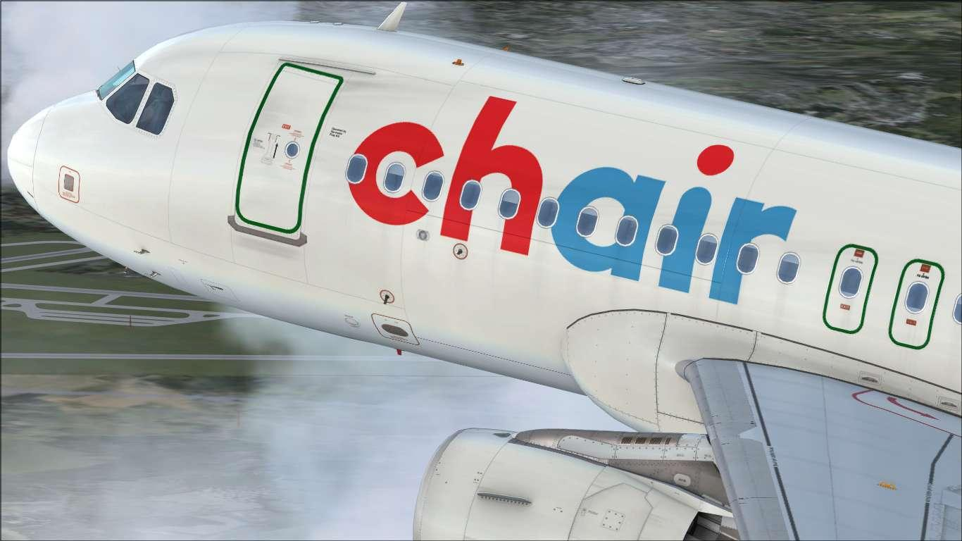 Chair Airlines HB-JOH Airbus A319 CFM