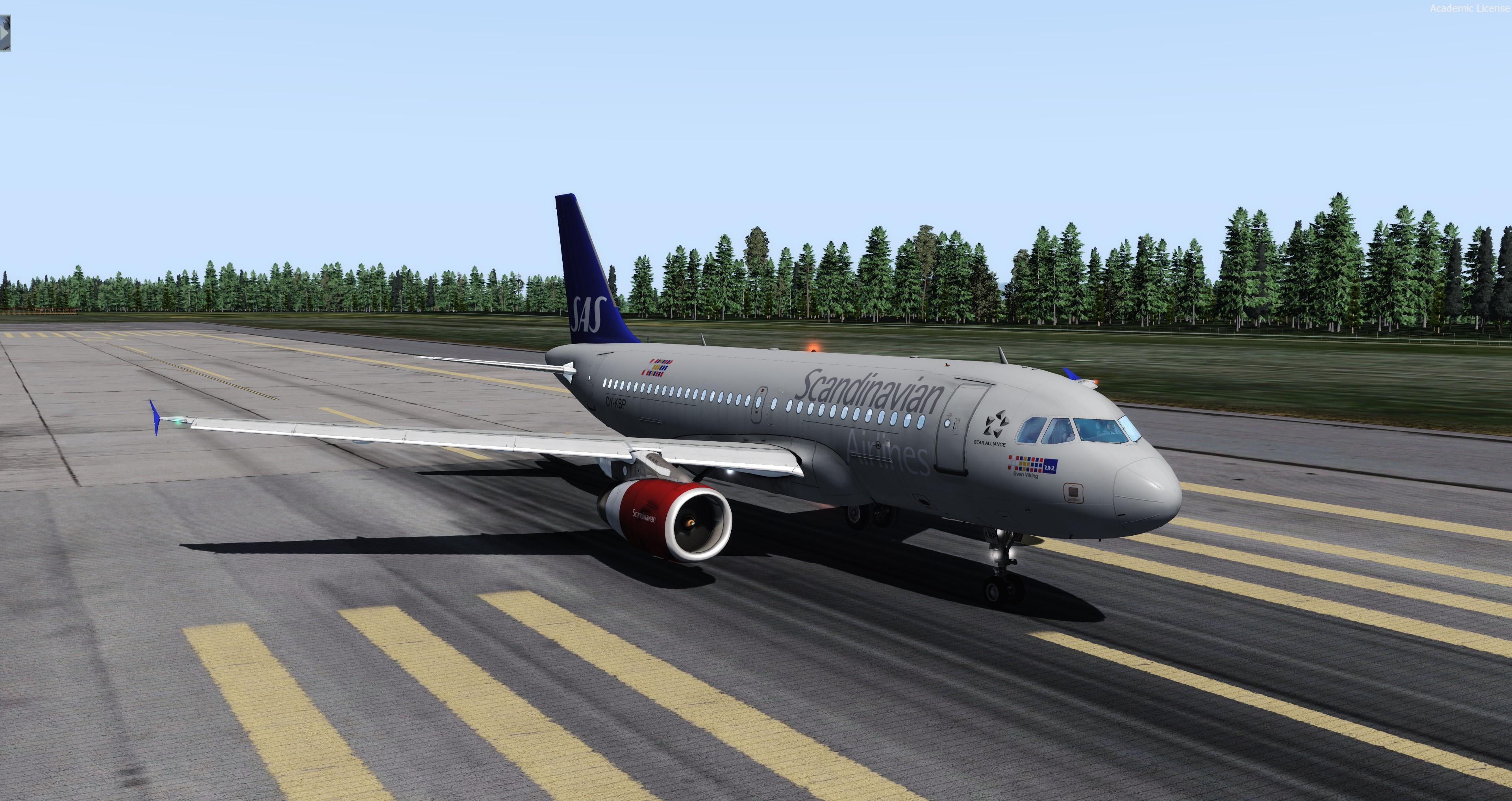 Airbus A319 SAS OY-KBP (Aerosoft A319 IAE Professional) - Airbus