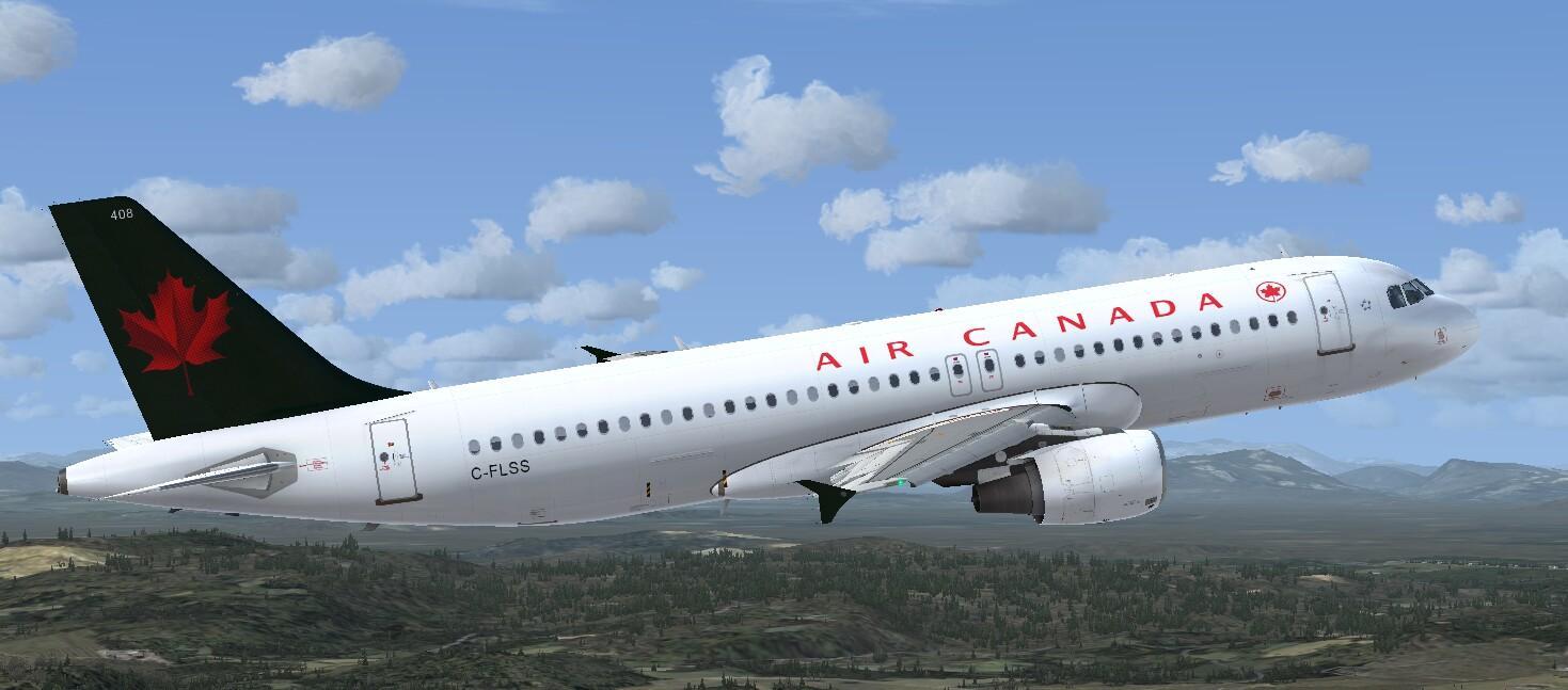Airbus A320 CFM Air Canada 1990 Livery