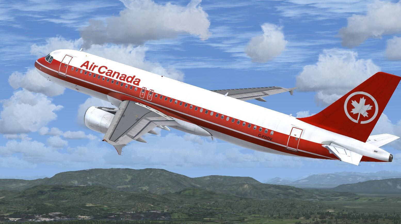 Airbus A320 CFM Air Canada 1980 Livery