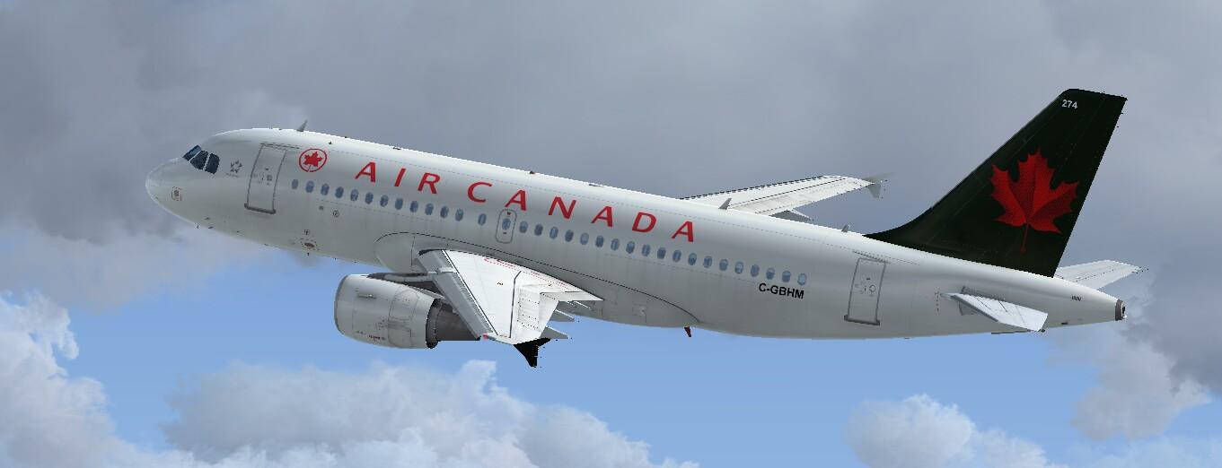 Airbus A319 CFM Air Canada 1990 Livery