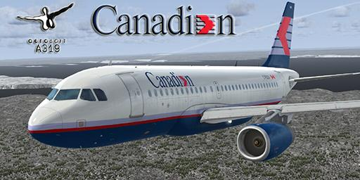 Airbus A319 IAE Canadian Ailines 1990 Livery