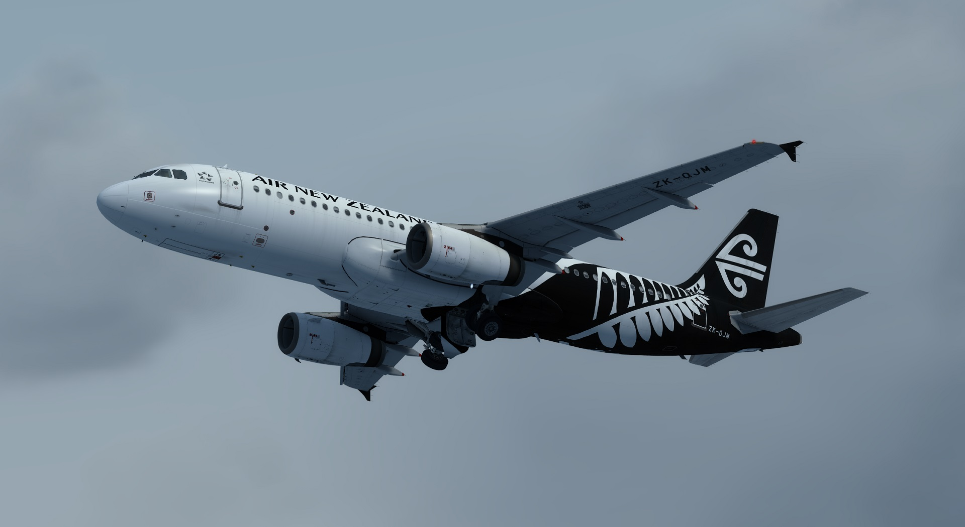 Airbus A320 IAE Air New Zealand ZK-OJM Fern Livery - Airbus