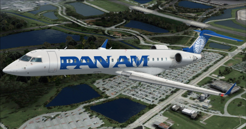 Screenshot for CRJ700ER Pan Am N701PA