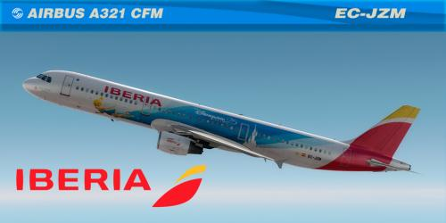 "Screenshot for Iberia ""Disneyland 25"" Airbus A321 CFM (EC-JZM)"