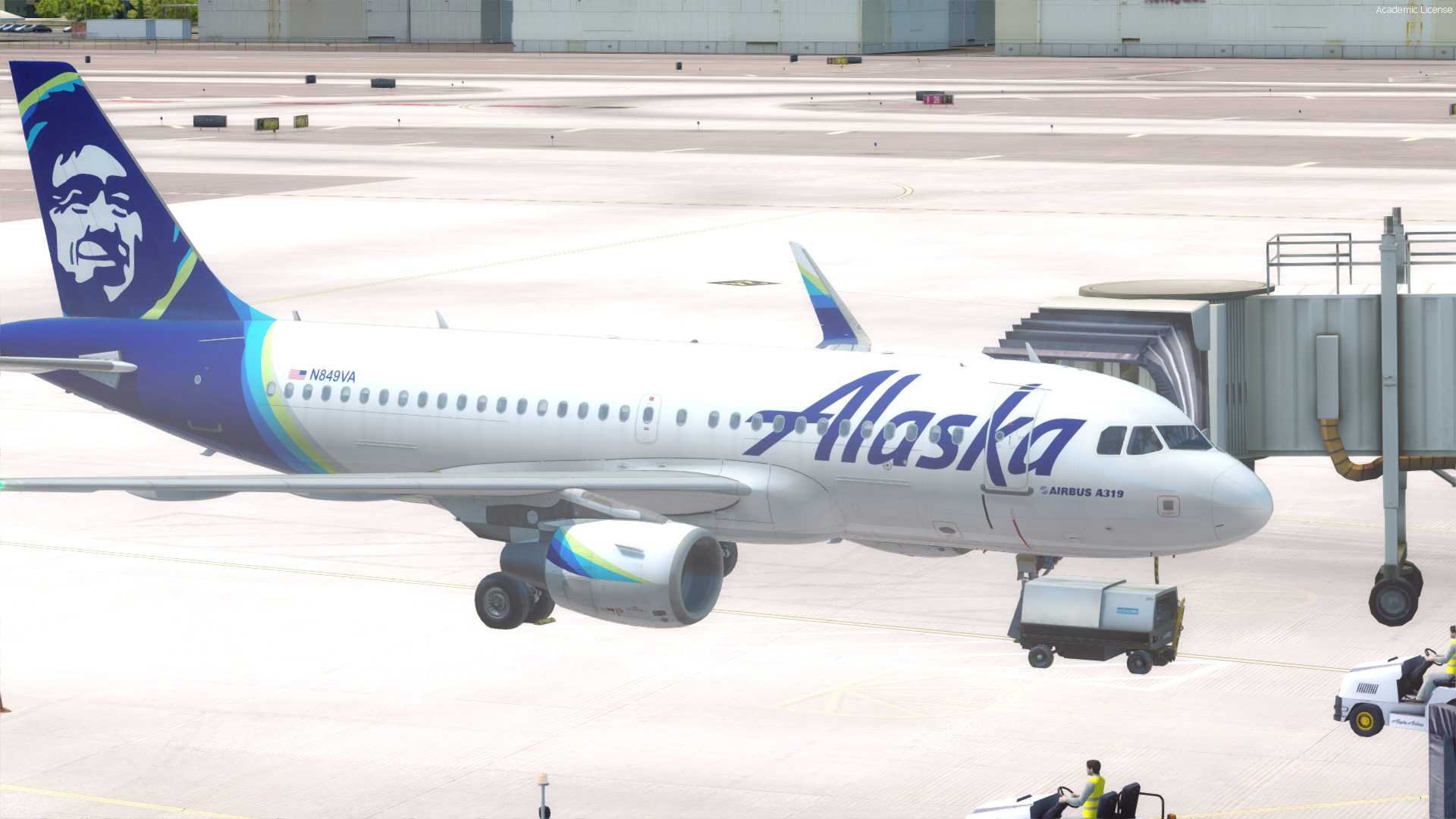 Alaska Airlines A319 for AS Pro Series A319