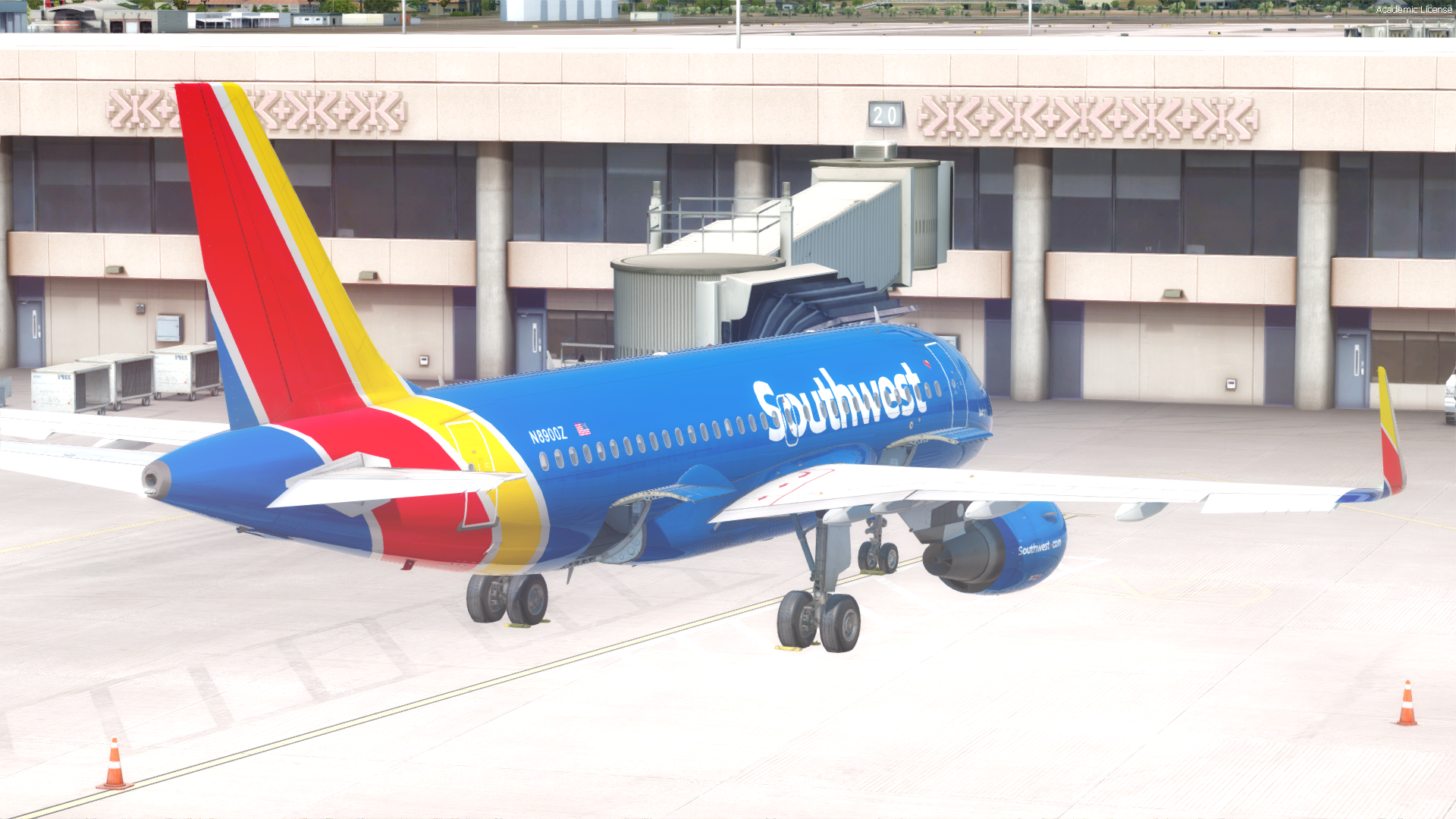 Southwest Airlines Fictional N8900Z A319 for AS Pro Series A319