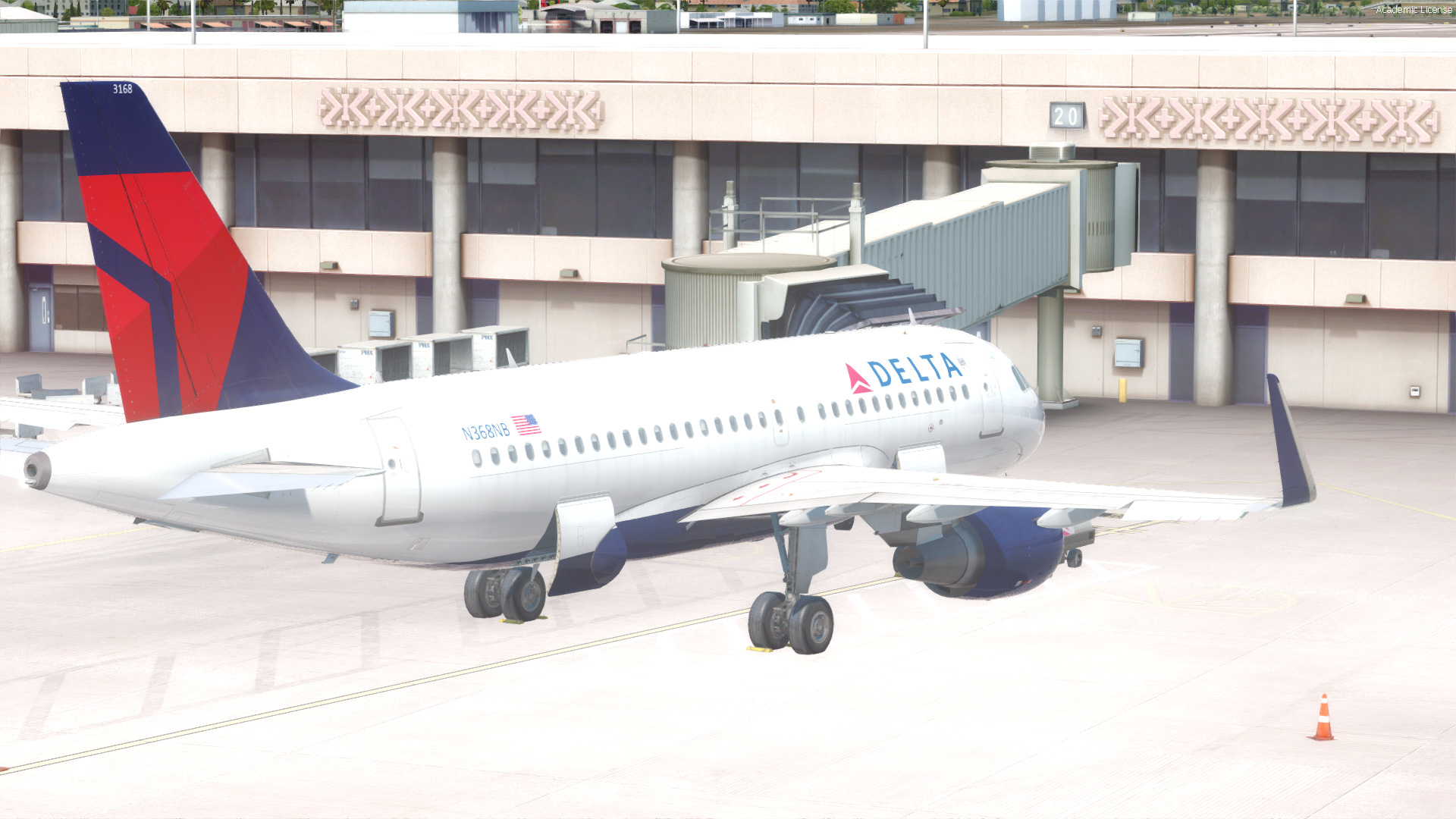 Delta Airlines N358NB A319 for AS Pro Series A319