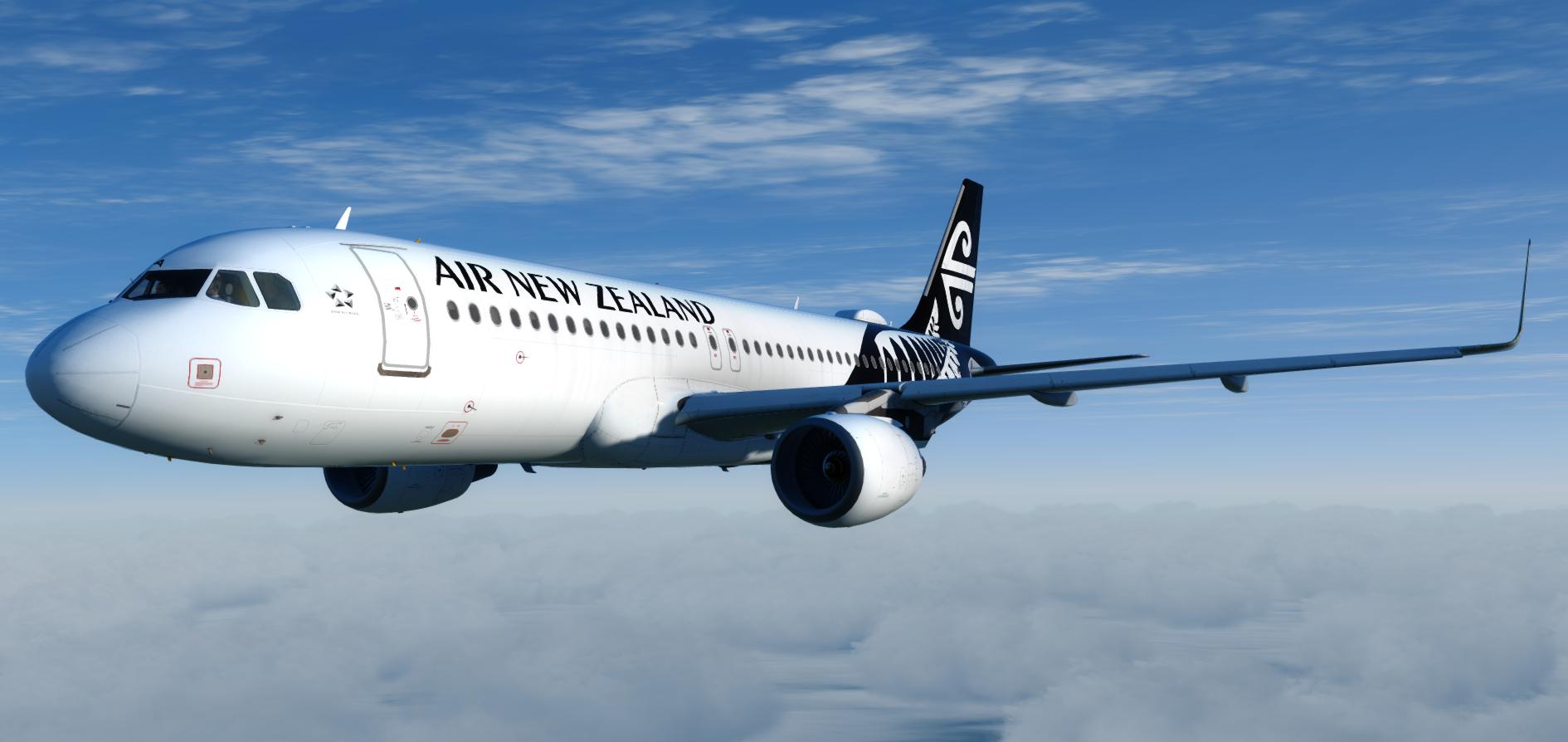 Aerosoft A320 (CFM) Professional   Air New Zealand ZK-NHA (Airbus A320-271N) Repaint P3D v5