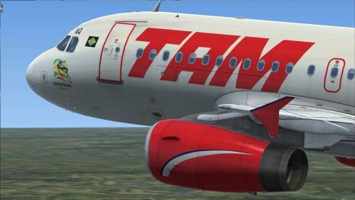 "Screenshot for TAM ""Ayrton Senna do Brasil"" PR-MAQ Airbus A319 IAE"