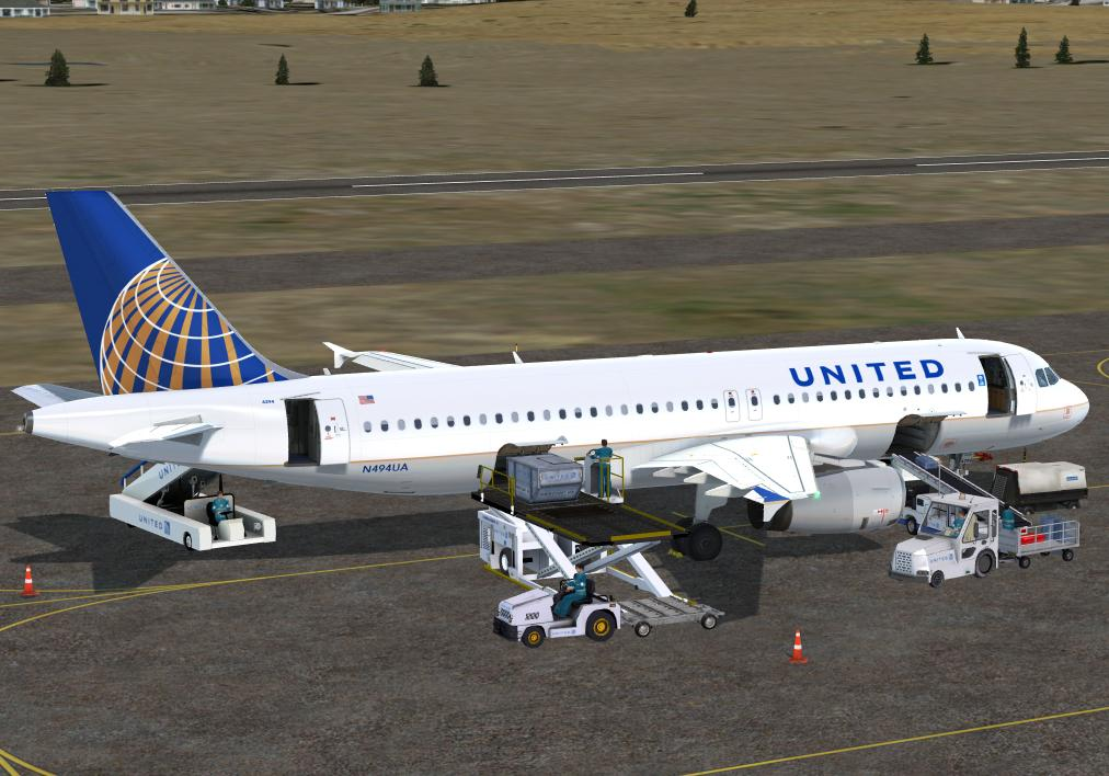 United Airlines Current Scheme for A320 Pro (P3Dv4)