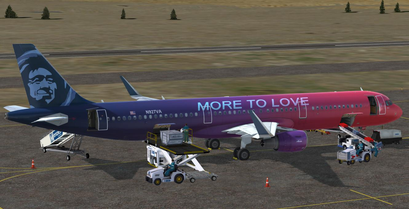 "Alaska Airlines ""MORE TO LOVE"" for A320 Pro (P3Dv4)"