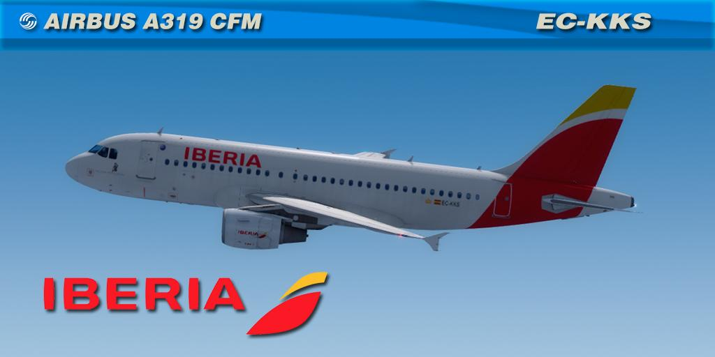 Iberia EC-KKS Aerosoft A319 CFM Professional