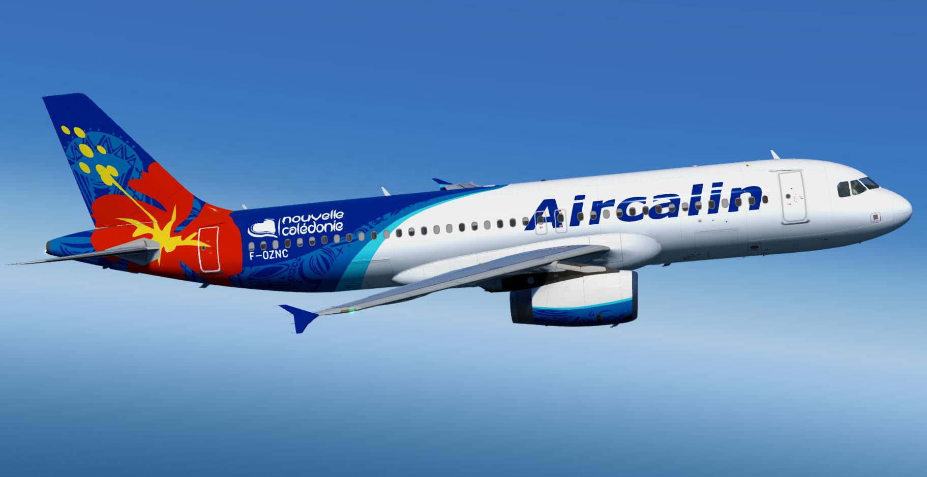 Aerosoft A320 (IAE) Professional   Air Calin F-OZNC (Airbus A320-232) Repaint P3D v5