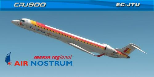 "Air Nostrum ""VIGO #ASEAOFLIFE"" (EC-JTU) Bombardier CRJ-900"