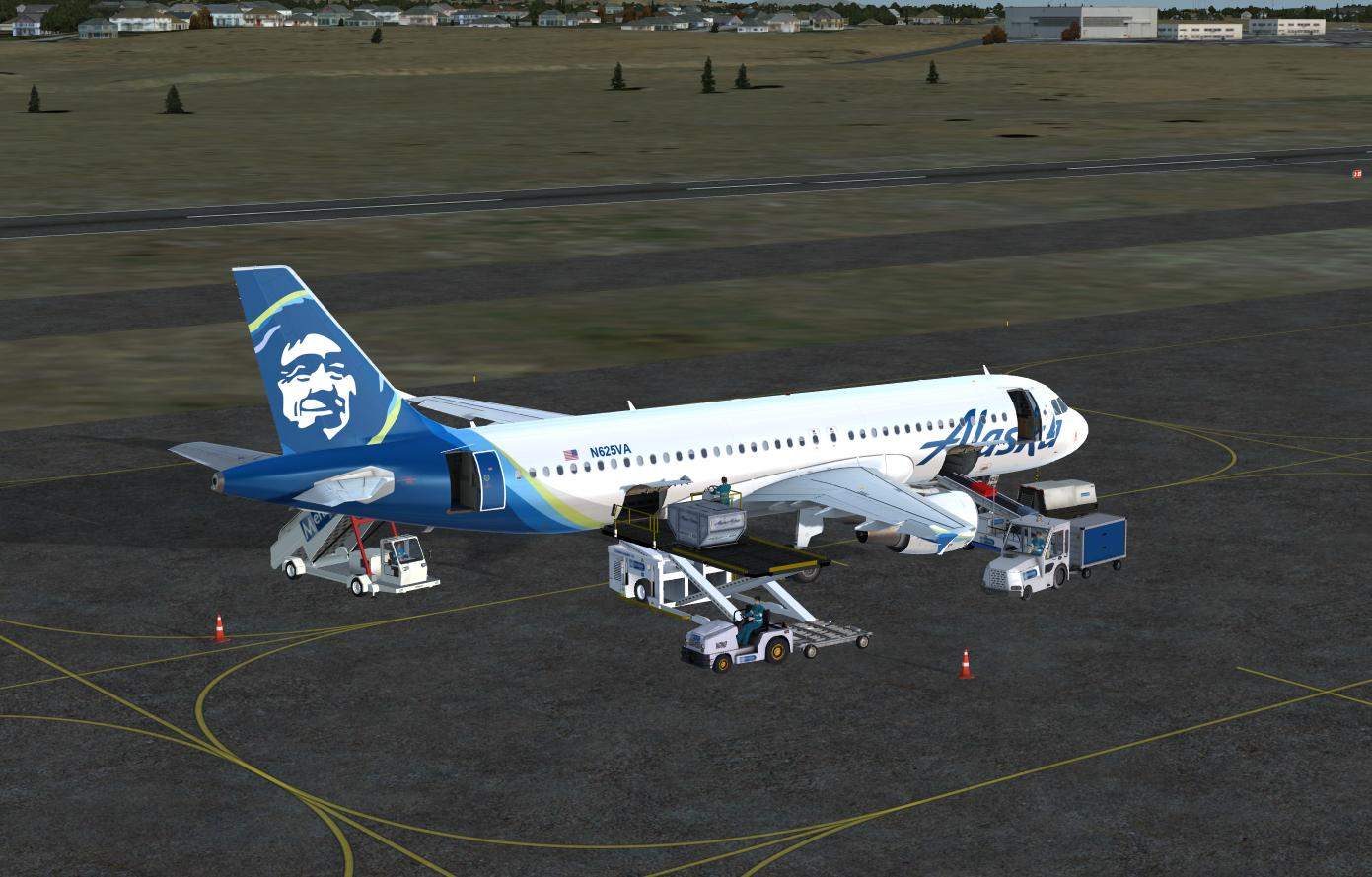 Alaska Airlines Standard Color for A320 Pro (P3Dv4)