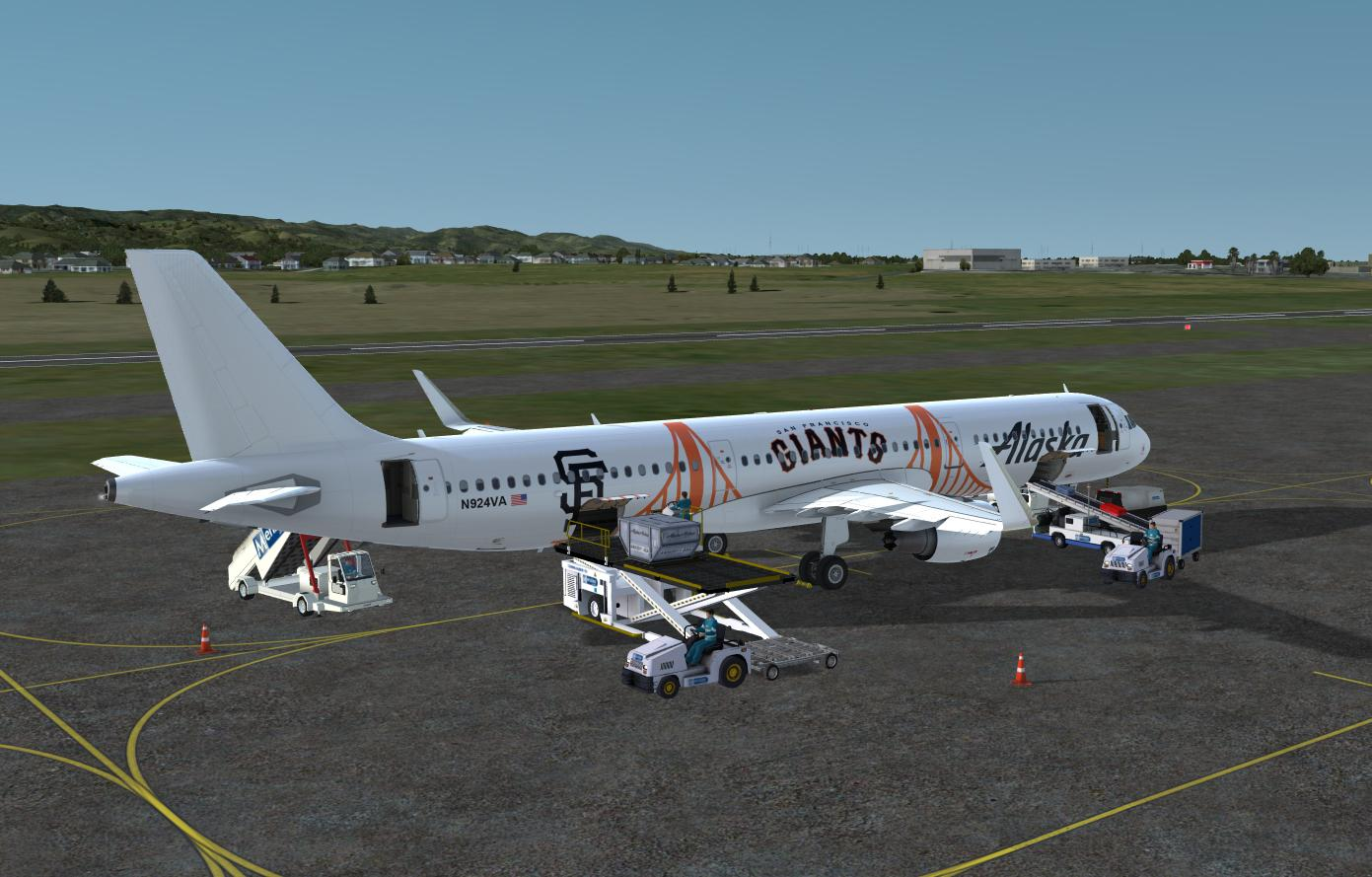 Alaska Airlines in SF Giants Color for A321 Pro (P3Dv4)