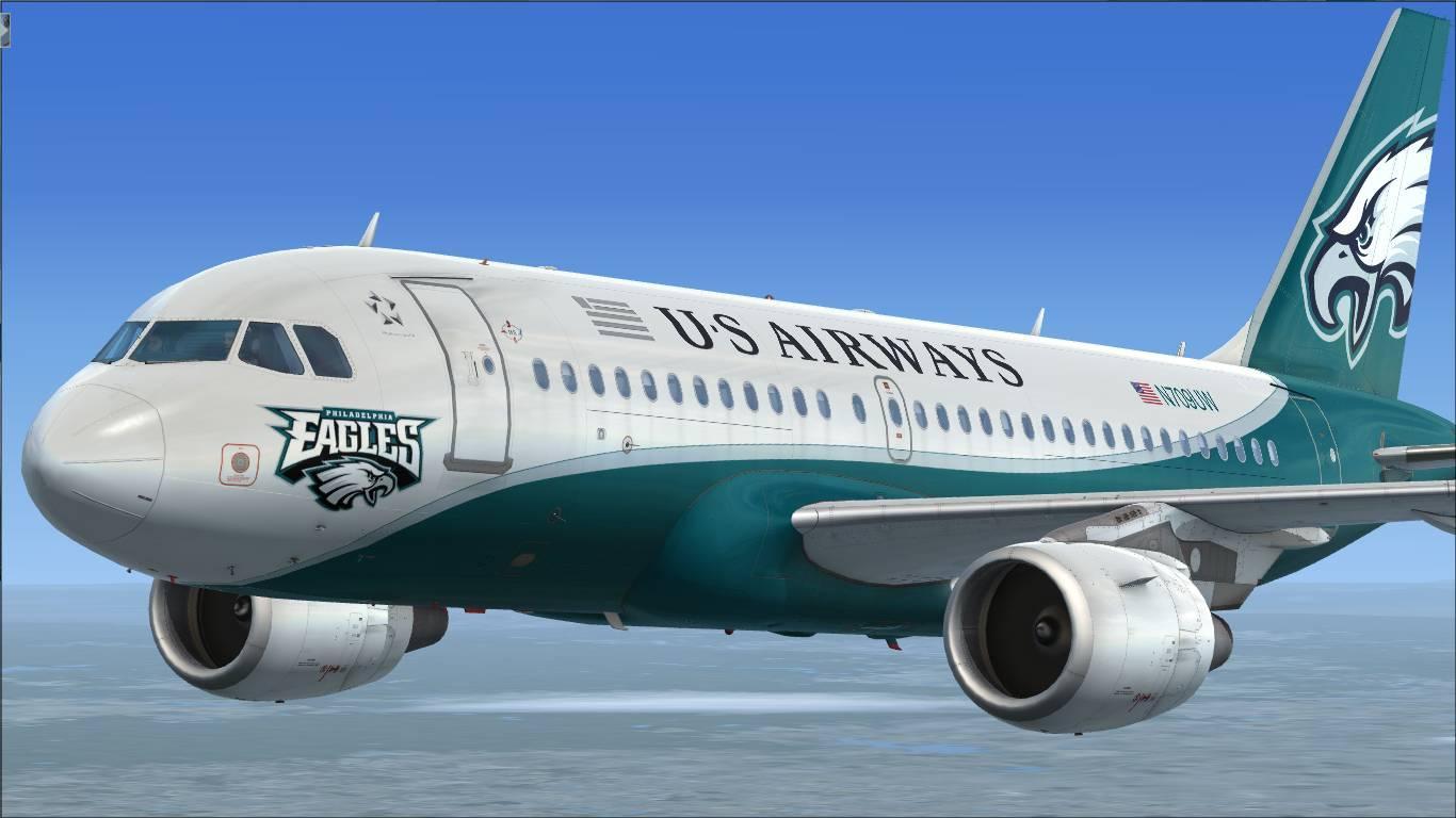 """US Airways """"Philadelphia Eagles"""" N709UW Airbus A319 CFM"""